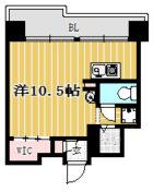 ダイアパレス大濠公園 - 所在階2階の間取り図 6615
