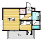 エステートモアDOUX高宮 - 所在階 の間取り図
