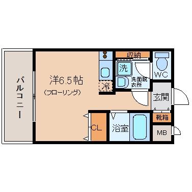 ベイサージュ祇園603号室-間取り