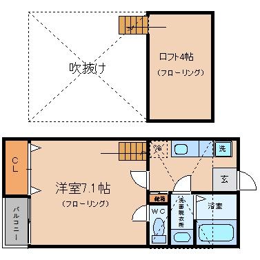ベネフィスタウン吉塚3207号室-間取り