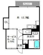 ハイディングプレイス東比恵 - 所在階 の間取り図