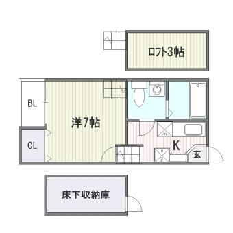 ベネフィスタウン吉塚I102号室-間取り