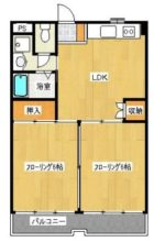 アンベール東天神 - 所在階 の間取り図