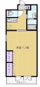 ファシール薬院 - 所在階 の間取り図