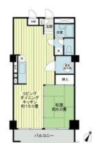 トーカン福岡第2キャステール - 所在階***階の間取り図 10477