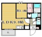 REGALEST 大橋 Me-ryⅡ - 所在階***階の間取り図 10555