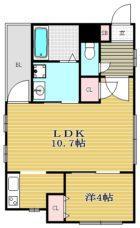 Attrante casa - 所在階***階の間取り図 10637