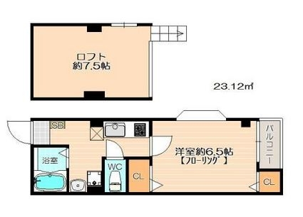 イル・グラッツィア博多駅東II203号室-間取り