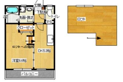 ベルコート博多203号室-間取り