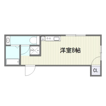 SHIROGANE APARTMENT301号室-間取り