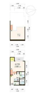 ハーモニーテラス筥松Ⅱ - 所在階***階の間取り図 10810