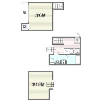 Apartment N Second102号室-間取り