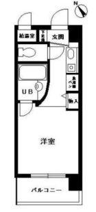 ルネスロワール博多駅南 - 所在階 の間取り図