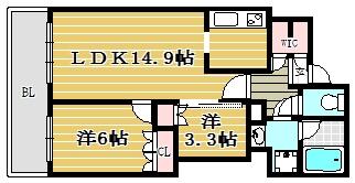 MJR赤坂タワー307号室-間取り