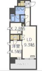 RJRプレシア博多駅南 - 所在階***階の間取り図 10980