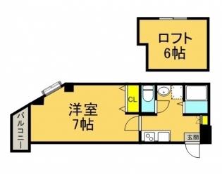 イル・グラッツィア美野島I403号室-間取り