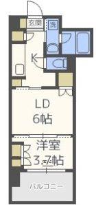 RJRプレシア博多駅南 - 所在階***階の間取り図 11132