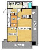 RJRプレシア博多駅南 - 所在階***階の間取り図 11134