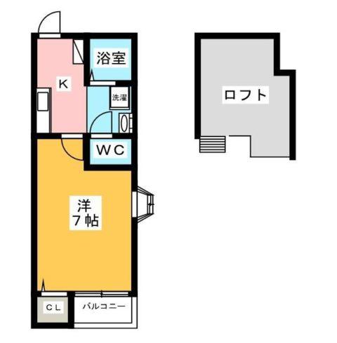イル・グラッツィア美野島II201号室-間取り