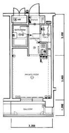 ロマネスク西公園第3 - 所在階 の間取り図