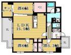 A-style六本松 - 所在階***階の間取り図 11222