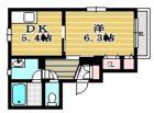 フレステュディオTAGUMA - 所在階 の間取り図