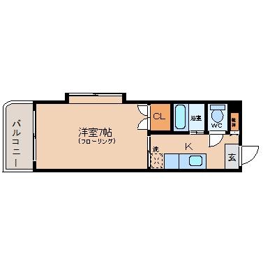 サンクレール祇園703号室-間取り
