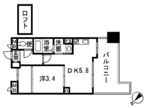 サムティシャルム博多A館203号室-間取り