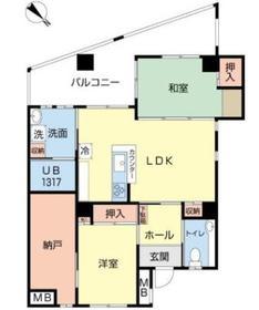リバービュー博多702号室-間取り