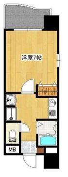ユーコウビルII - 所在階 の間取り図