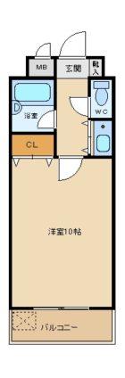 ステイタスマンション平和 - 所在階 の間取り図