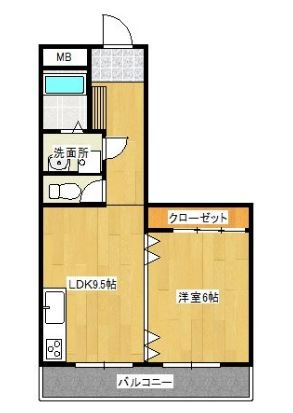ヨーロピアン博多703号室-間取り