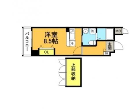 No.67 ベネフィット21博多505号室-間取り