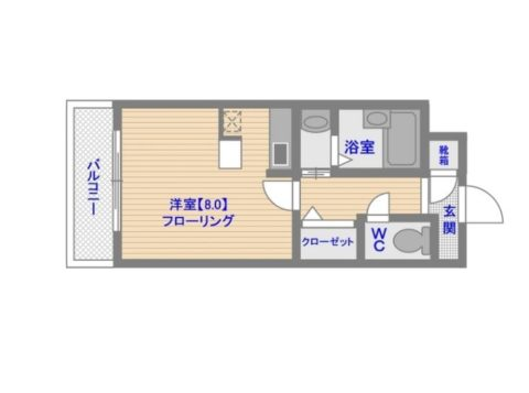 No.62 Towers Avantgarde 博多1208号室-間取り