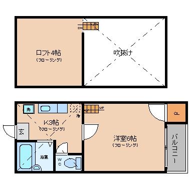 KDXレジデンス大濠ハーバービュータワー507号室-間取り