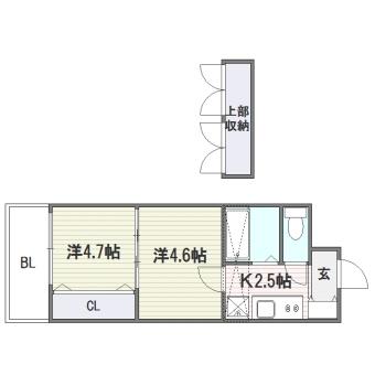 No.40 PROJECT2100博多駅前505号室-間取り