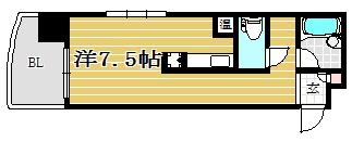 ロマネスク博多駅前403号室-間取り