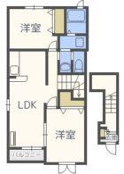 スヴニール小笹 - 所在階2階の間取り図 1263
