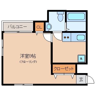 ヌメルスII102号室-間取り