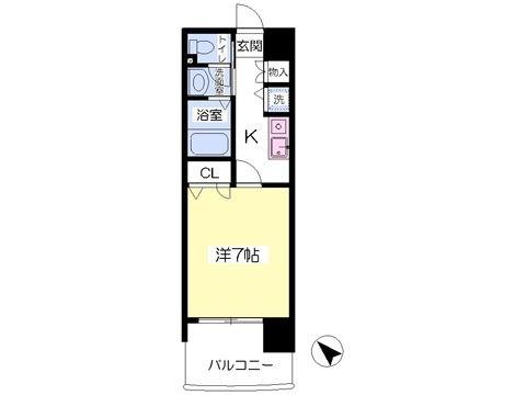 グレースフルマンション東公園203号室-間取り