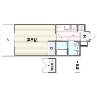 ピュアドームアーティック平尾303号室-間取り