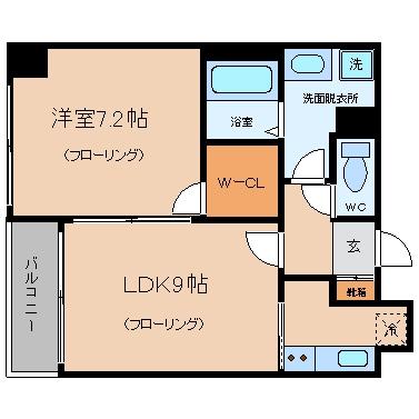 ラフィーネ博多駅前6052号室-間取り