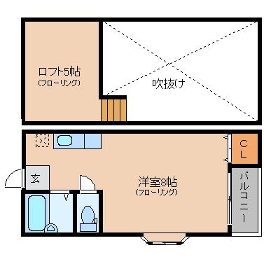 マキシム博多駅南II205号室-間取り
