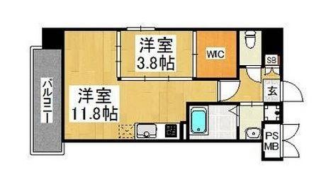 FKM白金701号室-間取り