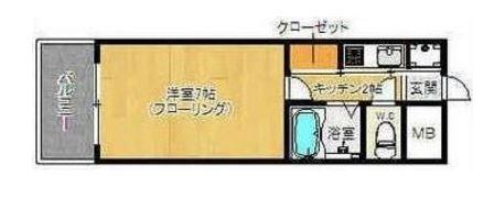 ピュアドームリブレ薬院506号室-間取り