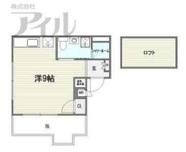 ロマネスク六本松第31101号室-間取り