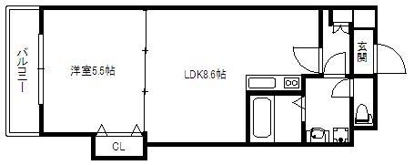 エース五番館908号室-間取り