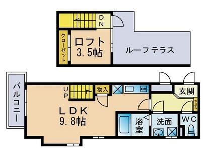 リアンアーブル博多駅東303号室-間取り