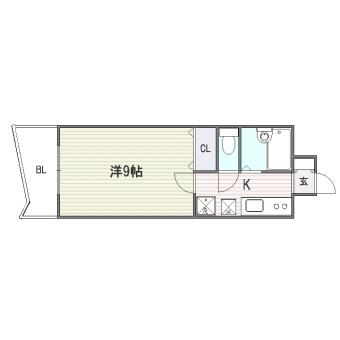 ロイヤル博多駅東805号室-間取り