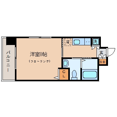 アソシアグロッツォ平尾駅前303号室-間取り